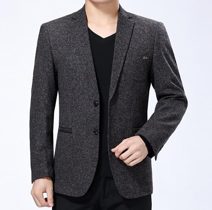 Casual Jackets Mens Blazer Middle-aged Masculino Slim Fit Casaco Jaqueta Masculina Business Coats Mens Suit Spring Autumn 3XL