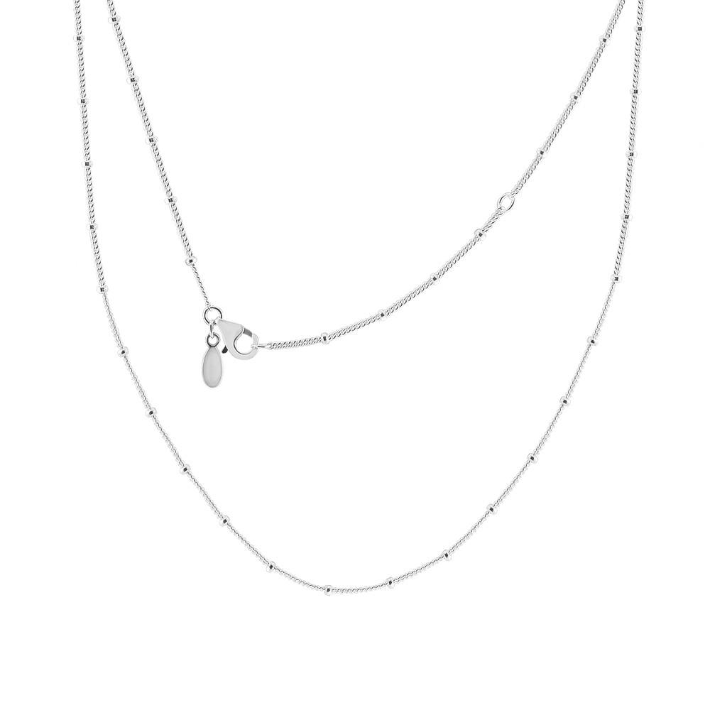 Трендовое женское ожерелье из бисера, 925 пробы, серебряная цепочка, ожерелье с подвесками, модное ювелирное изделие, колье, аксессуары для же