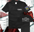 La nueva 2017 Super Cool Nueva El Resident Evil STARS SkullSuit Puro algodón de Manga Corta T-shirt ropa