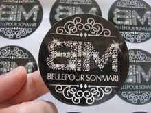 (2 inches)  50mm   round/square  Personlized Logo Sticker Label Printing