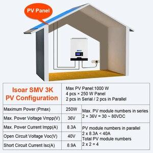 Image 5 - EASUN POWER 2400 واط الشمسية العاكس 220 فولت 40A MPPT 3Kva نقية شرط لموجة العاكس 50 هرتز 60 هرتز خارج الشبكة العاكس 24 فولت شاحن بطارية