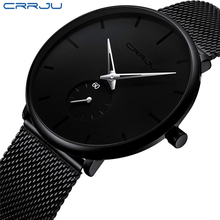 Men Watches Top Luxury Brand CRRJU Fashion Casual Quartz Analog Watch Mens Waterproof Sports Business Wrist Male Clock