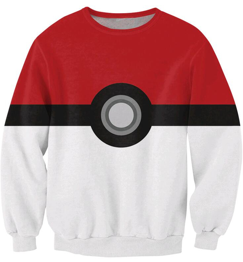 Men's Clothing Expressive New Fashion Men Women Pokemon Long Sleeve Outerwear Pokeball Catch Em All 3d Print Sweatshirt Harajuku Casual Crewneck Hoodies Strengthening Sinews And Bones