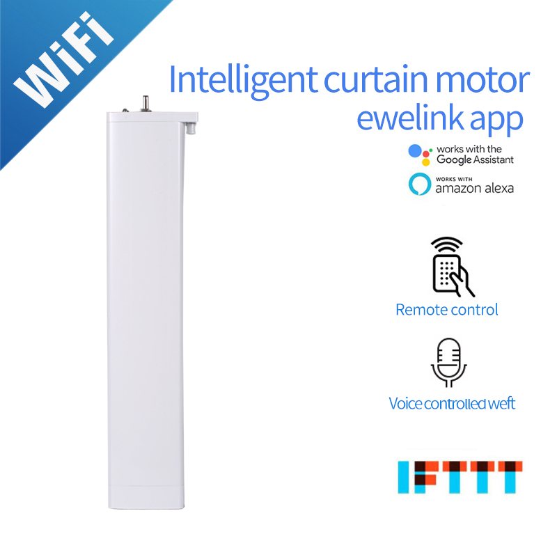 Smart Curtain Motor Wifi Motor For Ewelink Smart Home Device Wireless Remote Control Ewelink APP Work With Alexa And Google Home