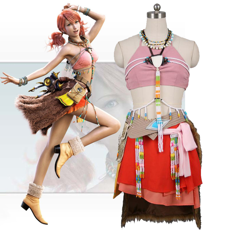 Anime!Final Fantasy XIII Oerba Dia Vanille Sexy Uniform Cosplay Costume Halloween Stage Performance Suit For Women Free Shipping
