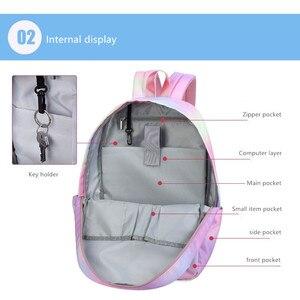 Image 3 - Женский школьный рюкзак Vento Marea, розовый дорожный рюкзак для девочек подростков, сумка для ноутбука, 2019