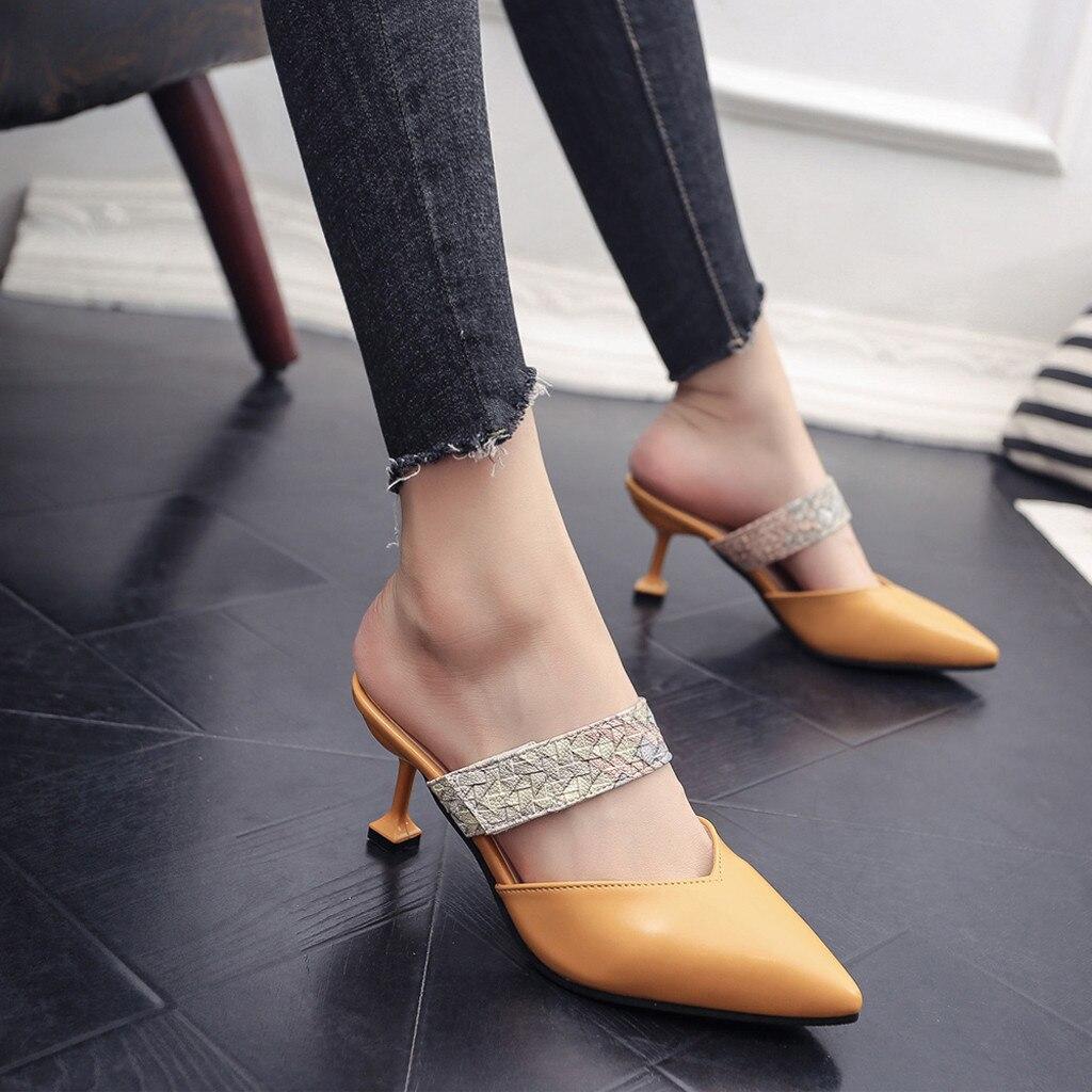 Pie Amarillo 2018 Sandalias Zapatillas Zapatos Alto Casuales Las tx4I4qf