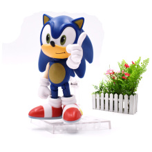 Sonic PVC The GSC sonic 214 Super Q Version Of Clay Manual Movable Figure Toy For Children 4