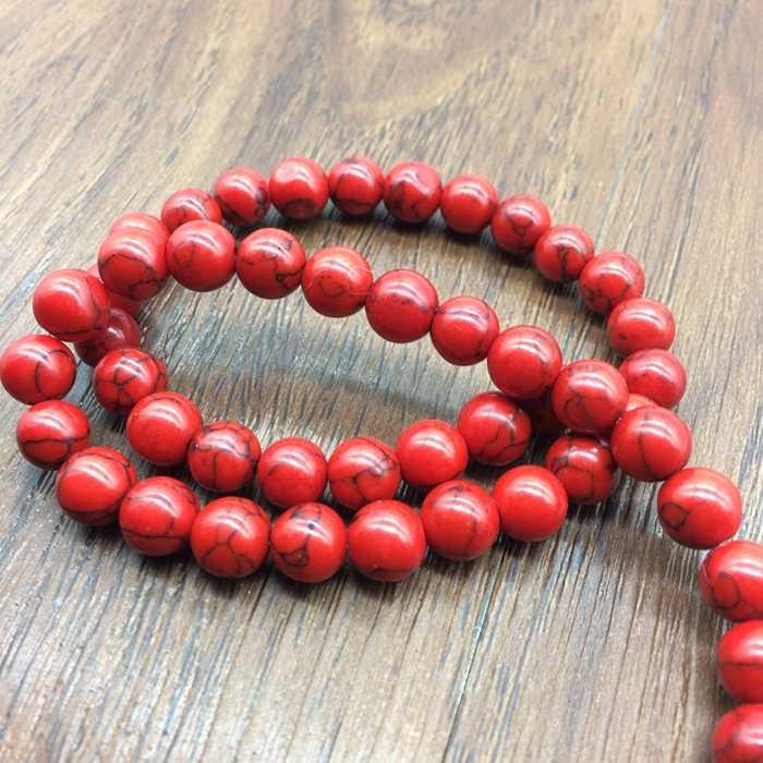 STENYA 10 mét Đá Quý Màu Đỏ đá tự nhiên bracelet trang sức kết quả howlite miếng đệm hạt necklace earrings vòng màu bóng charms diy