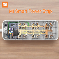 Original Xiaomi Smart Power Strip Intelligent 6 Ports WiFi Wireless Remote Power On Off With Phone