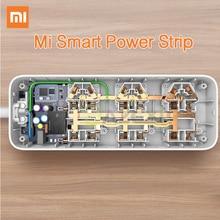 Оригинальный Xiaomi Смарт Мощность полосы интеллектуальные 6 Порты Wi-Fi Беспроводной удаленного Мощность on/off приложение телефона Управление