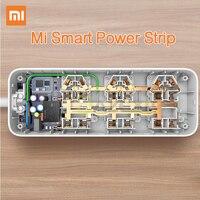 Original Xiaomi Smart Power Strip Intelligent 6 Ports WiFi Wireless Remote Power On Off With Phone