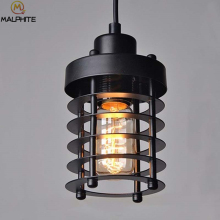 Modern Vintage Pendant Light Black Kitchen Hanging Lamps Retro Cafe Luminaire Industrial Decor Fixtures