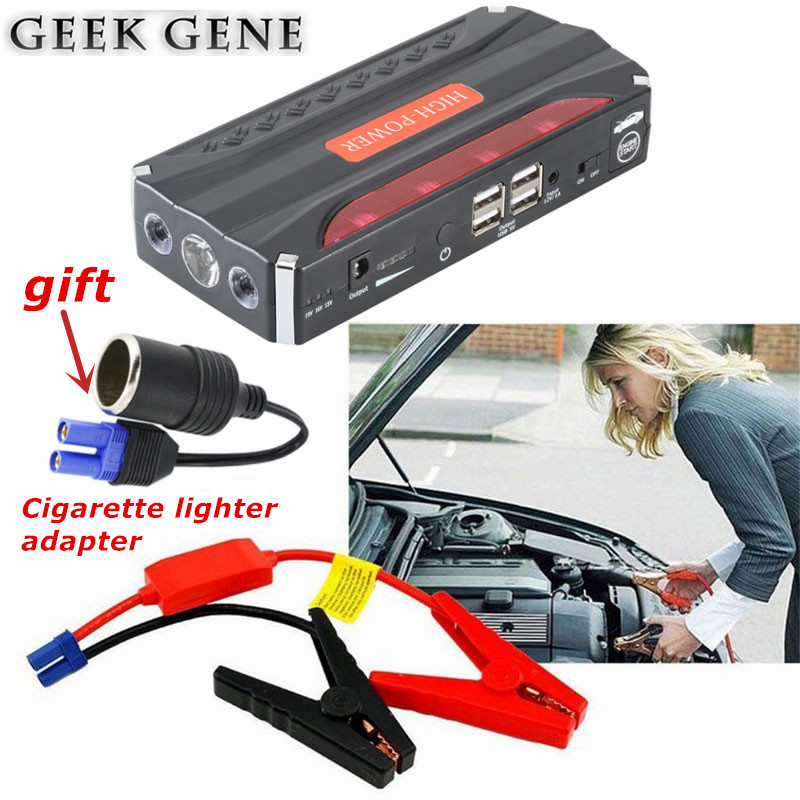 2018 Car Jump Starter 600A Pack Portable Starter Power Bank 12V Charger for Car Battery Booster Buster Diesel Starting Device CE multi function car jump starter for 12v diesel petrol car battery booster charger portable 400a starting devcie power bank led