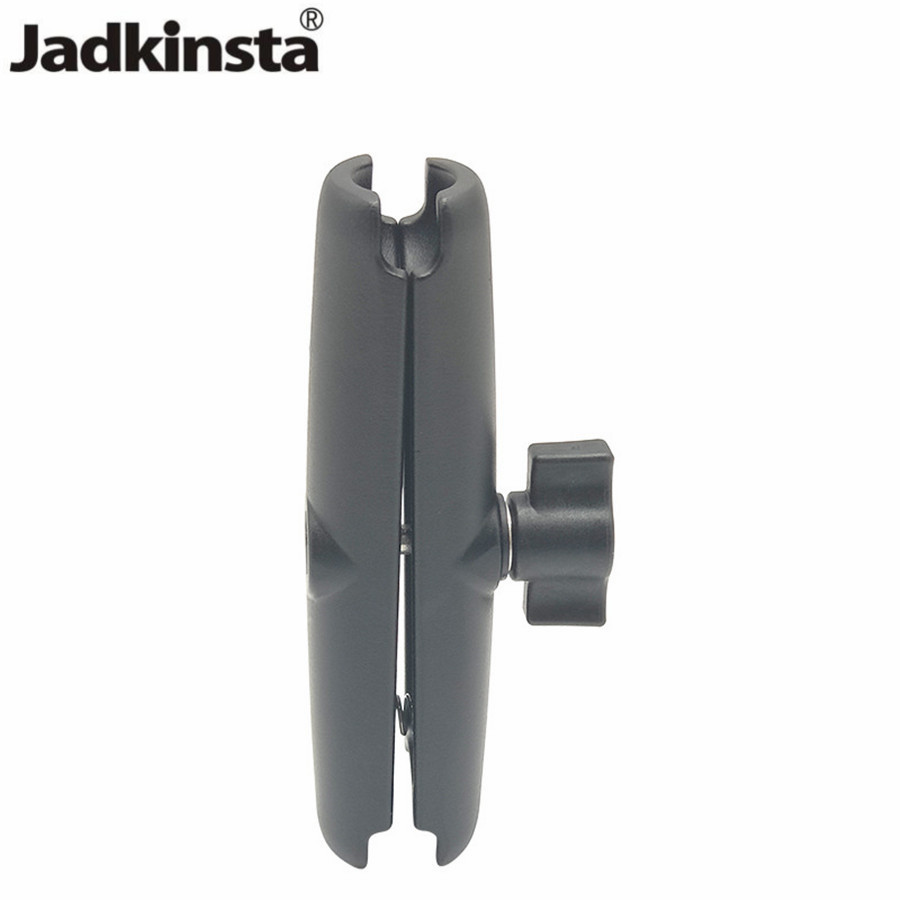 Jadkinsta Aluminium Alloy Arm Length 15cm Double Socket Arm For RAM With 1 Inch Ball Base Mount Motorcycle Camera Extension Arm