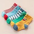 5 pairs/ lot 2016 Spring / fall / winter Smiling face pattern cotton baby socks boys girls socks 1-11 year children socks