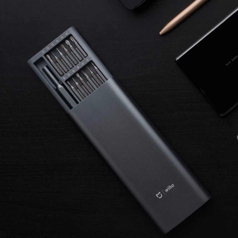 Xiaomi Mijia Wiha Daily Use Kit 24 Precision Magnetic Bits Alluminum Box DIY Screw Driver Smart Home Set