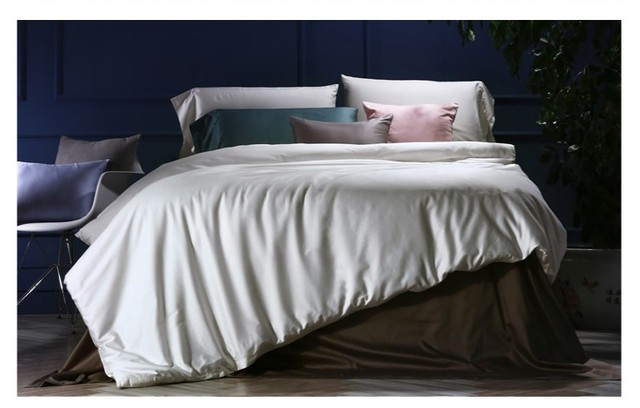 Luxury White 100% Egyptian Cotton Bedding Sets Sheets Bed In A Bag Sheet  King Queen