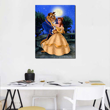 Beauty Beast Cartoon Wallpaper Wall Art Canvas Posters Prints Oil Painting Wall Pictures For Bedroom Modern Home Decor Artwork beauty beast movie wallpaper wall art canvas posters prints oil painting wall pictures for bedroom modern home decor accessories