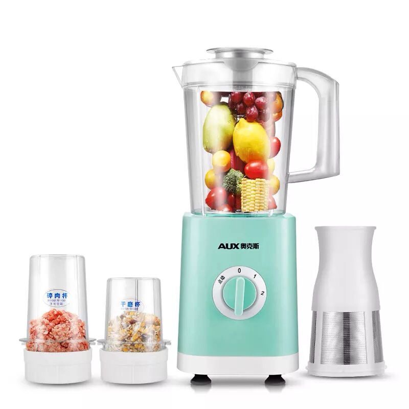 220V AUX Multifunctional Electric Fruit Juicer Automatic Juicer Grain Meat Grinder With 3 Cups And 3 Gear Control For Family 2l wholesale fruit mixer manual smoothie blender juicer meat grinder with digital temperature control