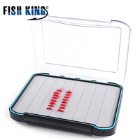 FISH KING 1PC Fly Box 29cm*21cm weight 895g Fly Fishing Tackle Box Plastic Waterproof Slit Foam High Density