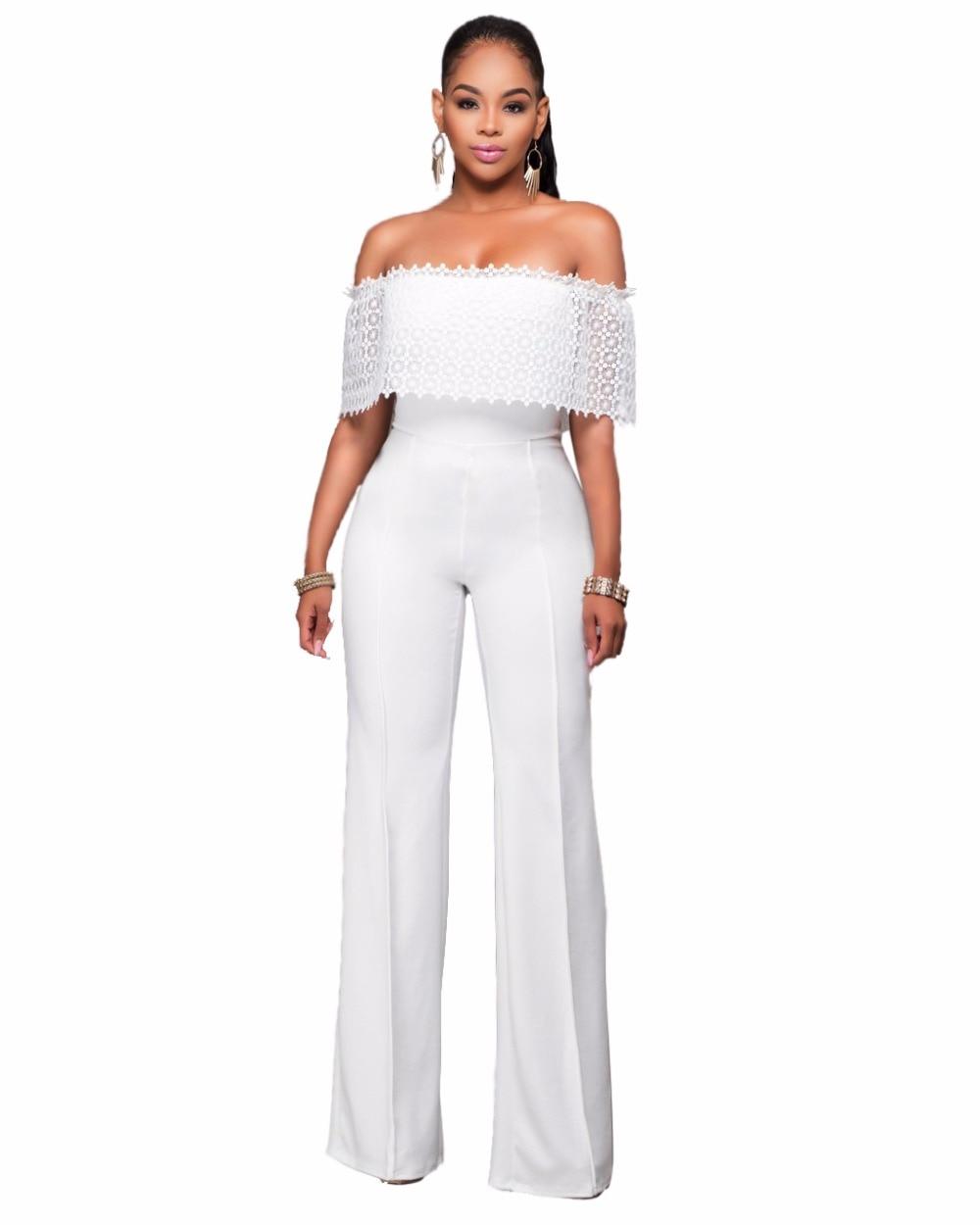 White Elegant Jumpsuit - Breeze Clothing