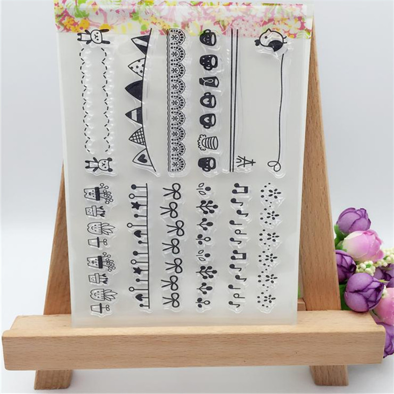 Flowers And Musical Note Transparent Clear Stamp DIY Silicone Seals Scrapbooking/Card Making/Photo Album Decoration Supplies loving heart and ballon transparent clear stamp diy silicone seals scrapbooking card making photo album craft cl 285