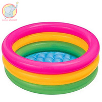 Inflatable Fluorescent Trinuclear Pool Accessories Toy Baby Portable Children Basin Bathtub float in swimming pool Water Play