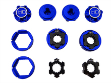 24mm hex wheel adapter lock set Over size 25 mm serrated captured wheel nuts for X-maxx