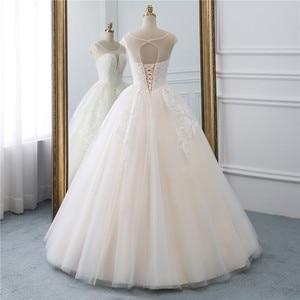 Image 3 - Fansmile Illusion Vintage Princess Ball Gown Tulle Wedding Dresses 2020 Quality Lace Plus size Wedding Bride Dresses FSM 520F