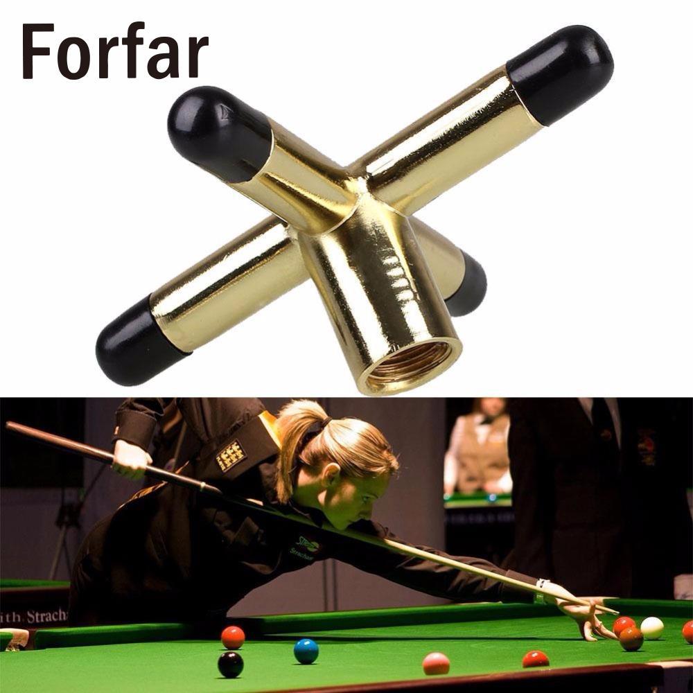 Forfar Game Snooker Cross Rest Tool Metal Head Screw Snooke Table Brackets Cue  Holder Pool Brass Billiards Accessories In Snooker U0026 Billiard Accessories  ...