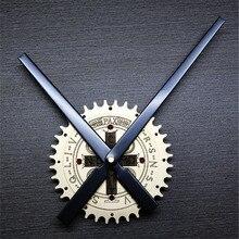 Retro Gear Wall Clock Unique DIY Vintage Crucifix Cross Design Stereoscoptic Big Needle Silently Mute Wall Clock for Home Decor