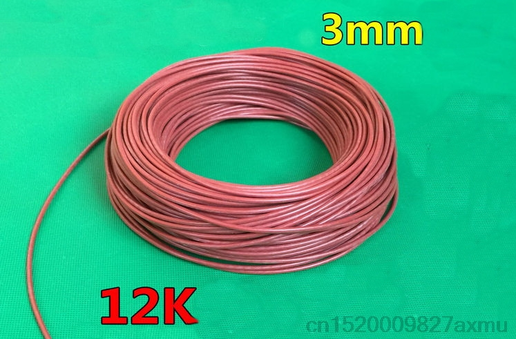 900M 12K 33ohm / M Infrared Heating Floor Heating Ther Cable System Of 3mm Silica Gel Carbon Fiber Wire Used In 220v 150w900M 12K 33ohm / M Infrared Heating Floor Heating Ther Cable System Of 3mm Silica Gel Carbon Fiber Wire Used In 220v 150w