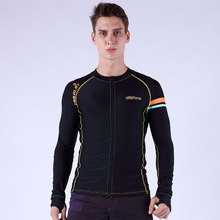Men Surfing Rash Guards Couple Wetsuit Diving Shirt Surf Long Sleeve Zipper Hooded Shirt Man Surfing Clothing NYS606