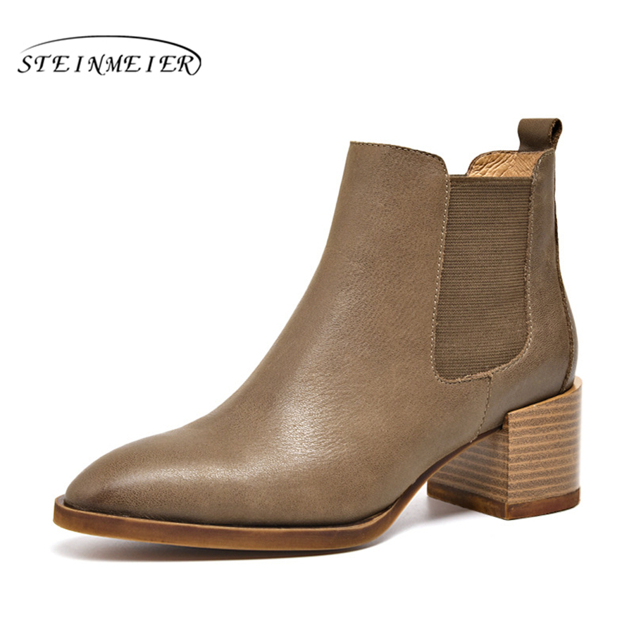 100% Genuine cow Leather winter boots Ankle chelsea Boots lady shoes elastic band Handmade black nude oxford shoes for women elastic band women genuine leather ankle boots chelsea hand made shoes motorcycle coincise fashion black matte women s boots