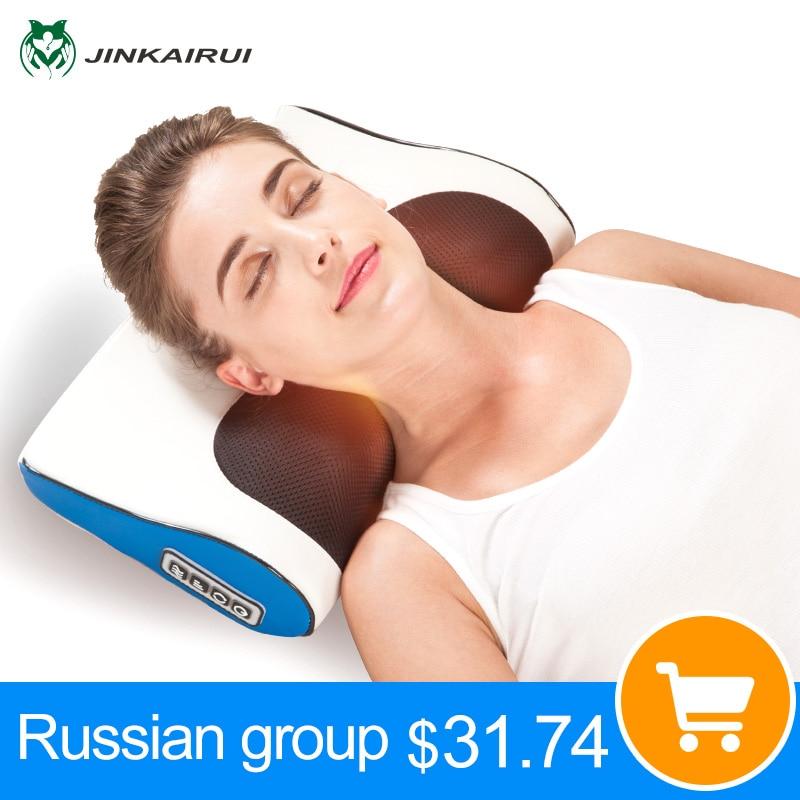 Aquecimento do infravermelho distante Do Pescoço Ombro Para Trás Massageador de Corpo Inteiro Massagem Multifuncional Travesseiro Cervical Dispositivo de Massagem Shiatsu Saudável