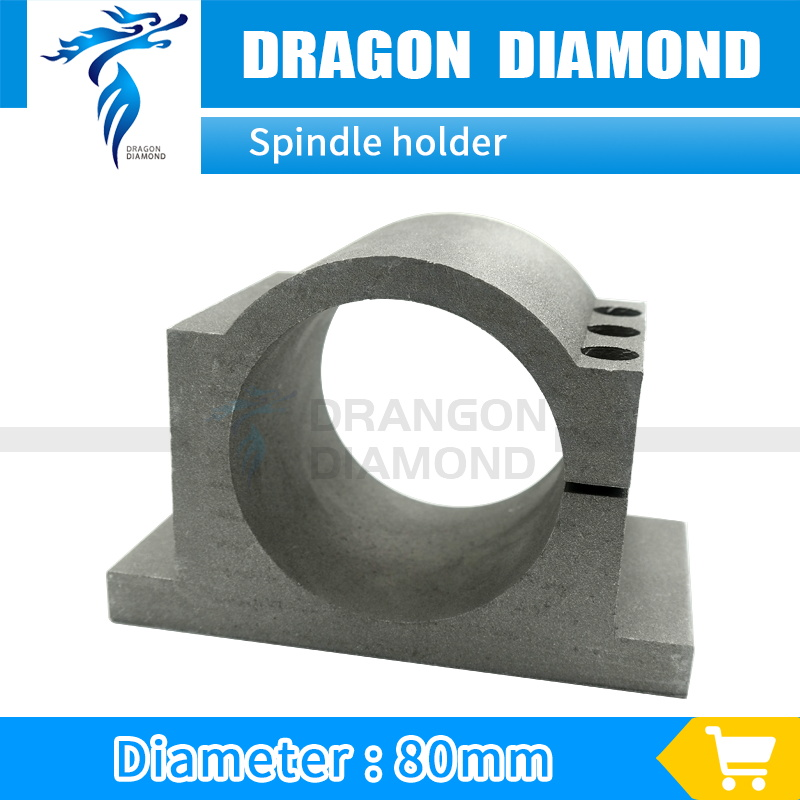 Dia 80mm Spindle Bracket Holder Spindle Motor Mount Spindle Clamps for cnc router spindle 2.2kw 80mm spindle motor bracket seat cnc carving machine clamp motor holder cast aluminum sandblasting surface for 80mm spindle motor