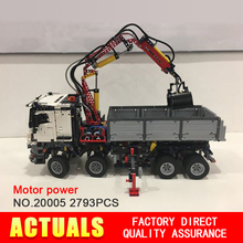 NEW LEPIN 20005 technic series 2793pcs Mercedes-Benz Arocs truck Model Building blocks Bricks Classic Compatible 42043 Boys Gift