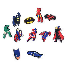 1 Pcs Leuke Cartoon Avengers Batman PVC Icoon Broche Pins Badge Anime Heroes Pins Button Badge Rugzak Kleding Hat Decor(China)