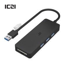 ICZI USB 3.0 Hub High Speed External USB 3.0 Ports for Data Transfer SD+TF Hub for Mac Windows and Laptops USB Hubs
