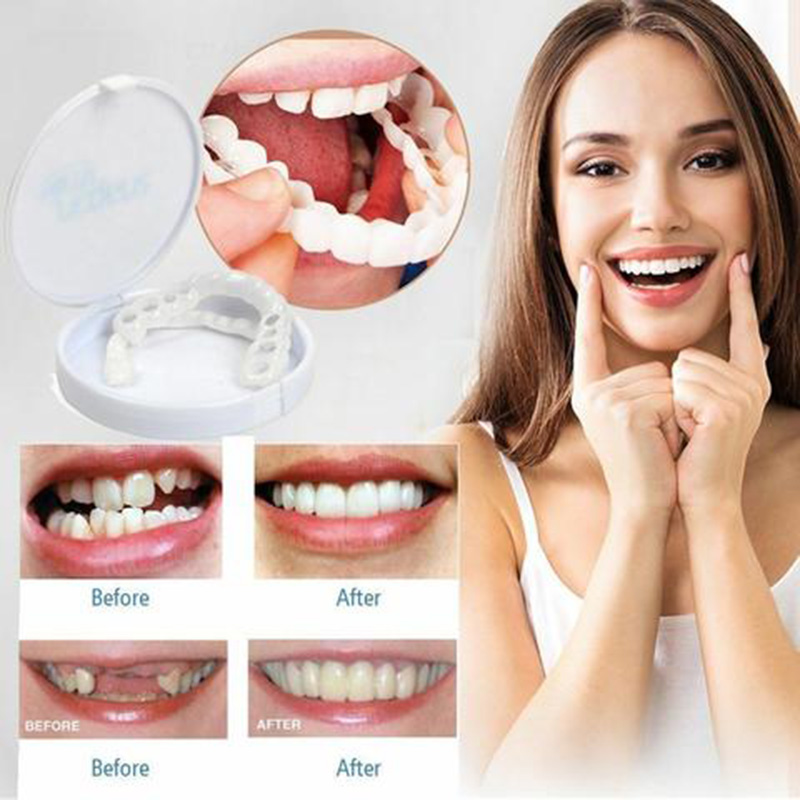 New Comfortable Snap On Men Women Tooth Perfect Smile Comfort Fit Flex Teeth Fits Whitening Smile False Teeth Cover New Up & Bot