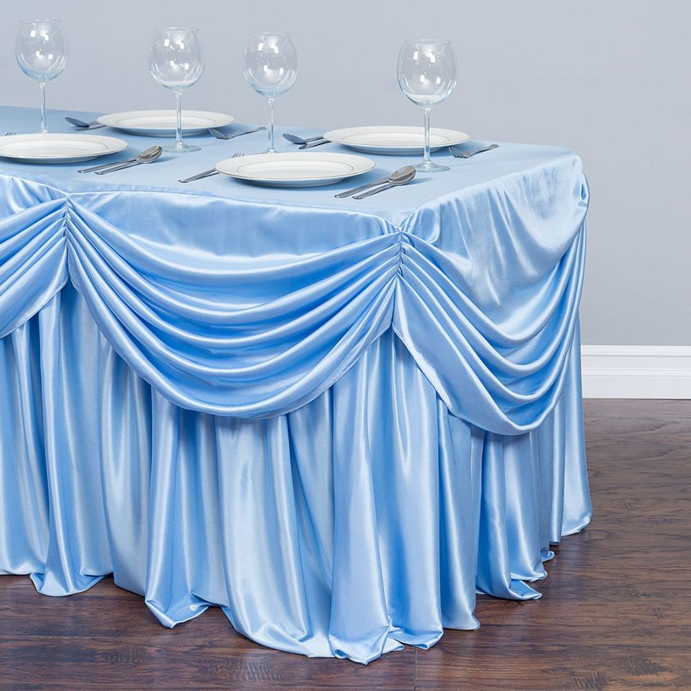 Merveilleux Free Shipping Ice Silk Valance Table Skirt Colorful Table Skirtting With  Swag Pleated Ruched Table Skirt For Wedding Decor In Table Skirts From Home  ...