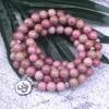 Natural Rhodochrosite Stone Beaded Charm Bracelet/ Necklace 5