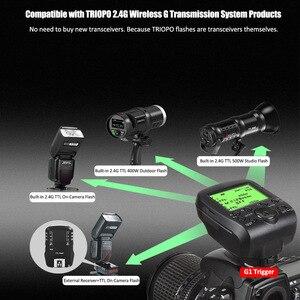 Image 4 - مشغل لاسلكي TRIOPO G1 مزدوج TTL مع شاشة LCD عريضة 1/8000s HSS 2.4G ناقل لاسلكي 16 قناة