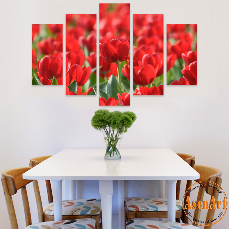 Metal Wall Art Red Flower Vine Polyvore