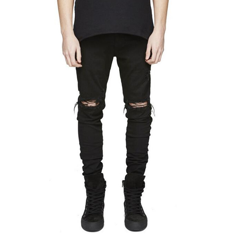 NEW Men/'s Distressed Ripped Skinny Jeans Trousers Slim Fit Denim Pants 7Colors