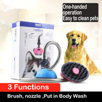 Pet Dog Cat Shower Head Goods for Dogs Cats Horse Bathing Comb Cleaning Tool Hair Massage Brush Washing Accessories Pet Supplies