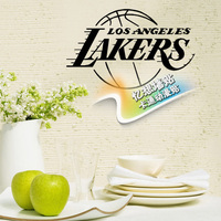 Freies verschiffen DIY vinyl NBA Los Angeles lakers abzeichen logo basketball dekoration wandaufkleber