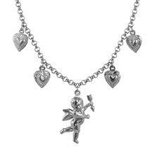 ZHUYOU Новая мода титановая сталь нержавеющая сталь любовь Крыло ангела Любовь Сердце колокольчик ключица цепь ожерелье
