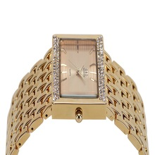 NEW!!! 2016 Brand New Stainless Steel Chain Fashion Gold Watch Women Wristwatches Quartz Watches